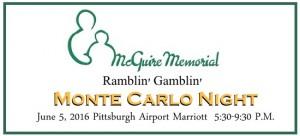 McGuire Memorial monte Carlo Night Banner may 2016